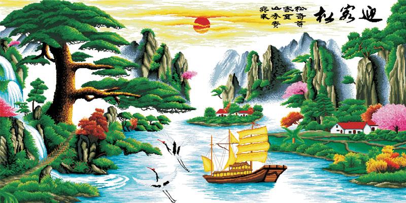 Tranh Thuận Buồm Xuôi Gió 81 – Tranh Dán Tường 3D Bảo Nam